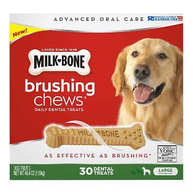 milk bone brushing chews daily dental treat milk bone brushing chews daily dental treats large 30 ct