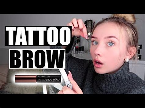 tattoo brow maybelline youtube 3 tage augenbrauen test maybelline tattoo brow nicole
