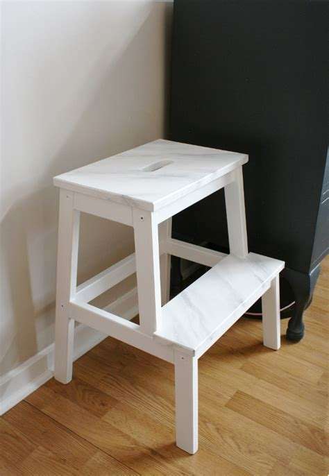 Bekvam Step Stool by Bekvam Step Stool Gets A Faux Marble Makeover