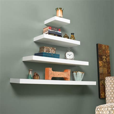 southern enterprises chicago floating shelf 24 quot white by