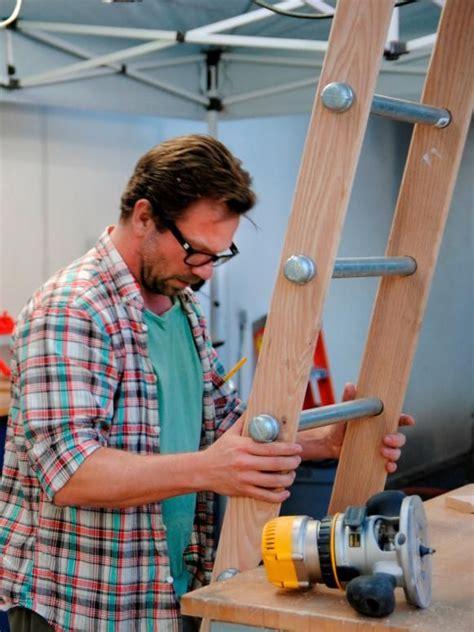 build  rolling ladder wooden ladder library
