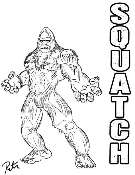 finding bigfoot squatch lineart by rictor riolo