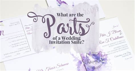 what in a wedding invitation suite what are the parts of a wedding invitation suite charmcat