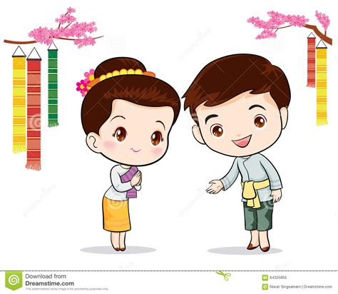 Thai Wedding Animation by Thai Traditional Welcome Sawasdee Stock Vector
