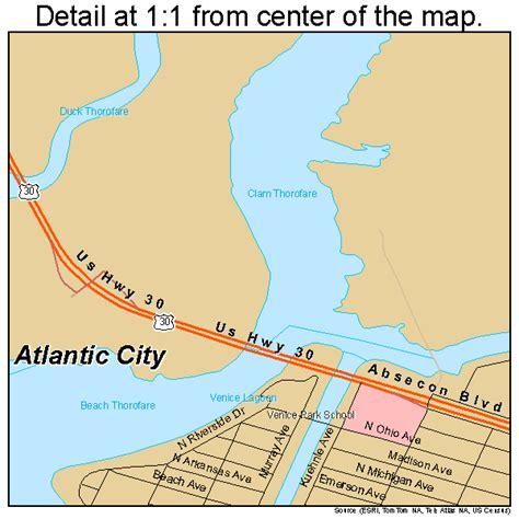 atlantic city map atlantic city new jersey map 3402080
