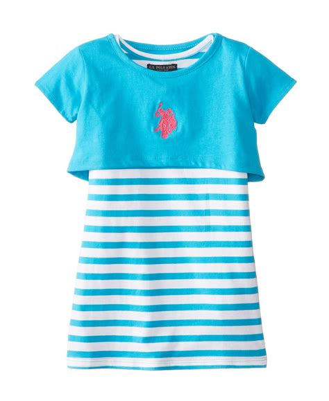 u s polo assn girls solid and stripe twofer toddler dresses baby clothes baby
