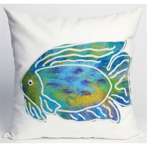 pillow fish batik fish indoor outdoor pillow