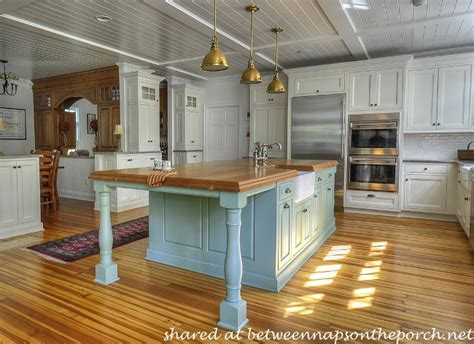 painted kitchen featuring oversized black island 10 beautiful dream kitchens cottage french country and