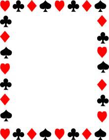 9 best images of playing card invitation border casino