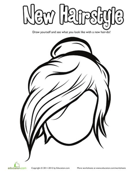 hair coloring pages education com