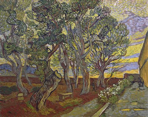 Garden Of St Paul Trees In The Landscape 5 Vincent Gogh And Swirling