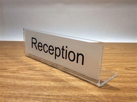 120 Best Images About Freestanding Desk Signs On Pinterest Reception Desk Signs