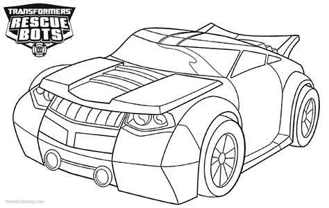 rescue bots coloring pages transformers rescue bots coloring pages bumblebee free