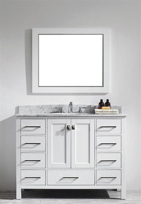 white bathroom vanity with carrera marble top transitional 48 inch white bathroom vanity with carrera