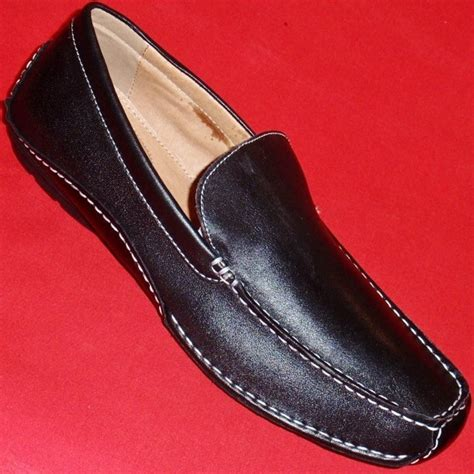 apt 9 loafers new s apt 9 rob black leather loafers slip on casual