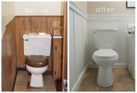 basement bathroom makeover and our version of board and