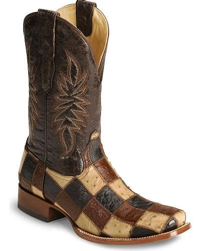 moose rubber sts corral ostrich patchwork boots demibox