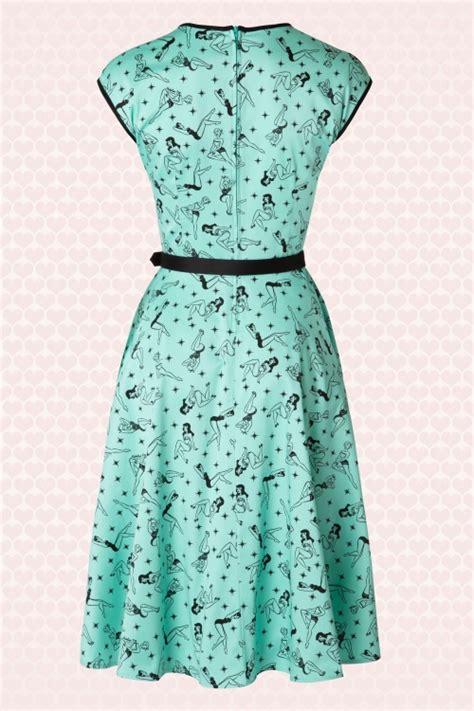 mint green swing dress 50s heidi pinup swing dress in mint