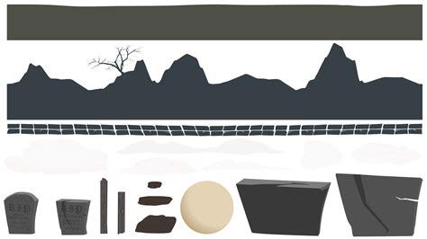 seamless  graveyard background opengameartorg