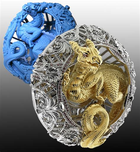 jewellery design competition 2015 dragon pendant by og art solidscape