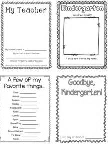 my kindergarten memory book 32 pages blackline to