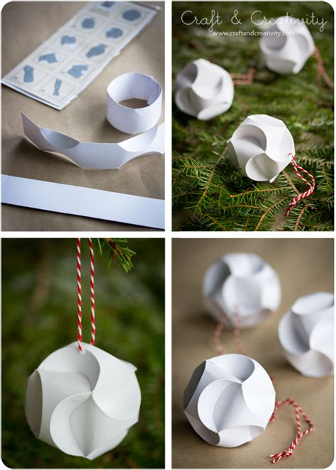 Paper Ornament Crafts - julpyssel i papper paper crafts craft