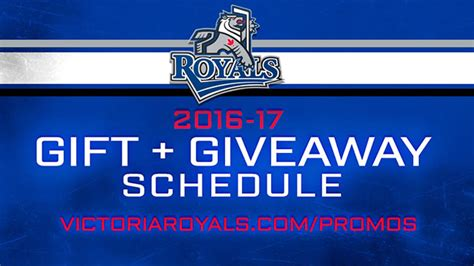 Royals Giveaway Schedule - royals annouce 2016 17 gift giveaway schedule victoria royals