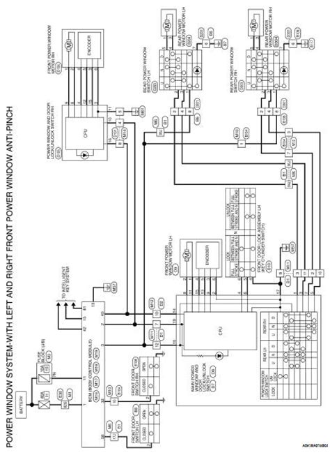 wiring diagram for power window switch