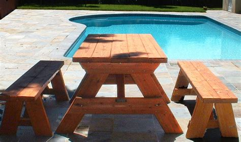 picnic table plans detached benches picnic table with detached benches plans free furnitureplans