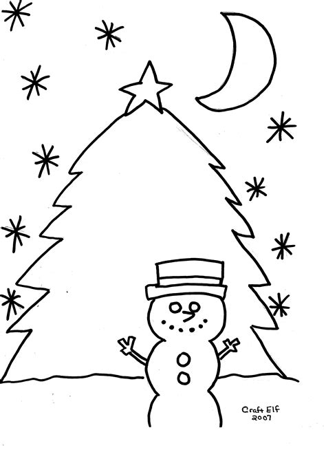 christmas tree and snowman coloring pages snowman with christmas tree free coloring page
