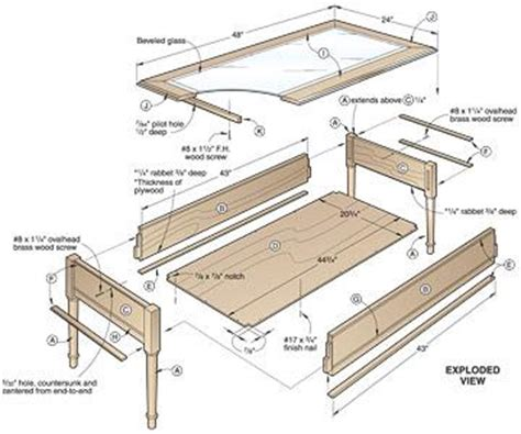 Shadow Box Coffee Table Plans by Diywoodtableplans