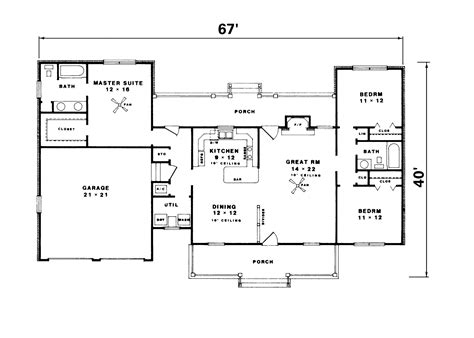 Ranch Style Home Plans With Basement | floor plans for ranch style homes with walkout basement