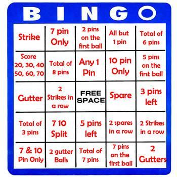 Bowling Bingo Card Template 17 best images about physical education on