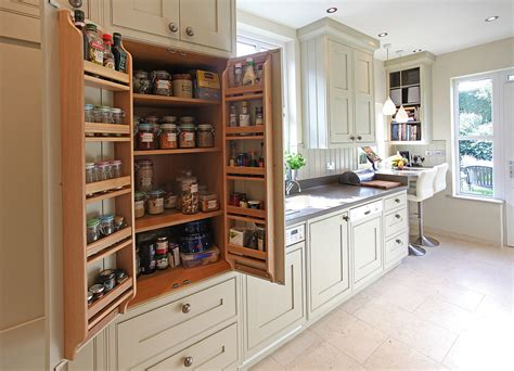 bespoke kitchen furniture bat wing pantry cabinet in galley kitchen bespoke small