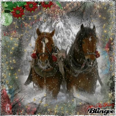 merry christmas   clydesdales picture  blingeecom