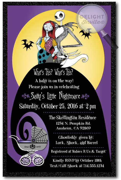 Nightmare Before Christmas Baby Shower Invitation Di 4525 Harrison Greetings Business Nightmare Before Invitations Templates Free