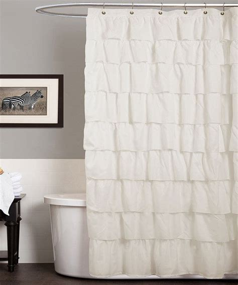 ivory ruffle curtains ivory ruffle shower curtain interior designs