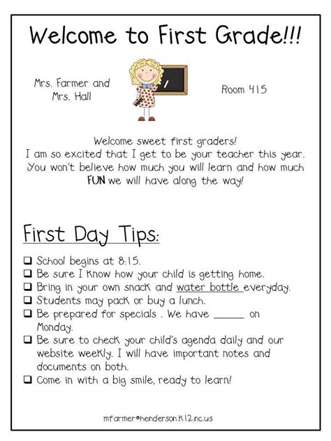 Parent Letter Beginning Of School Year 25 Best Ideas About Preschool Welcome Letter On Classroom Welcome Letter Parent