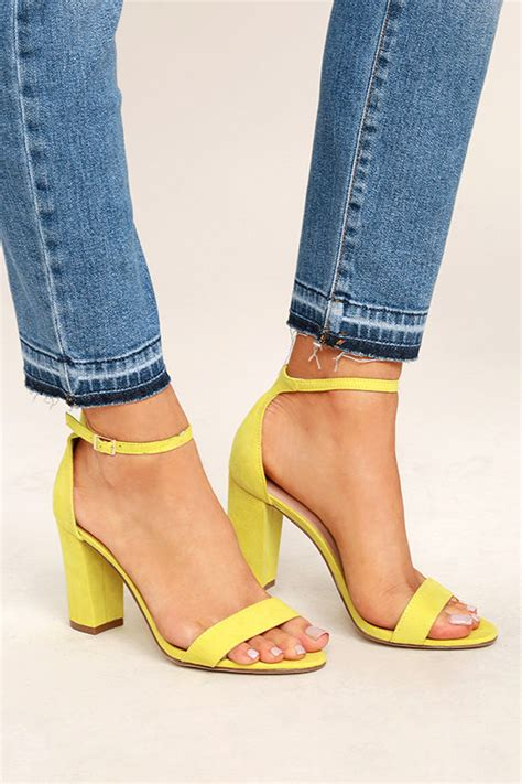 yellow heels ankle heels yellow shoes 49 00