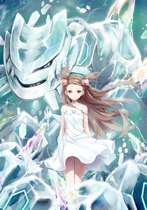 anime girl wallpaper mega jasmine and mega steelix pok 233 mon