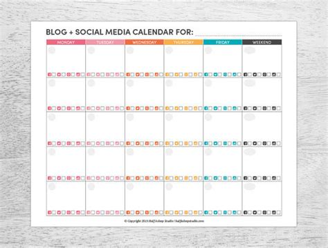Printable Weekly Calendar Just Another Free Printable Weekly Calendar 2018 Social Media Calendar Template