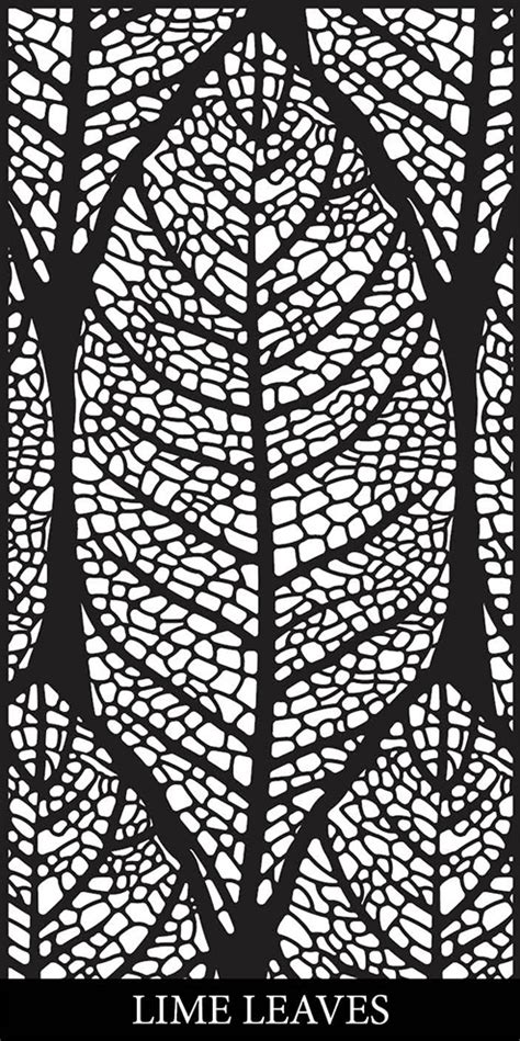 leaf pattern screen lime leaves laser cut decorative facade decorative