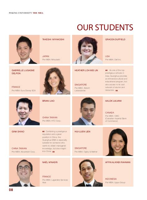 Combining Mba And Politics by Guanghua Mba Brochure