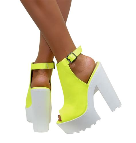 2 sandal heels womens cleated sole chunky heels block platform