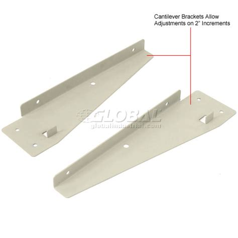 cantilever bench brackets work bench systems adjustable height 48 quot w x 12 quot d