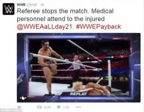 Head Hit The Floor - wwe s enzo amore snaps his neck during payback sunday daily mail online