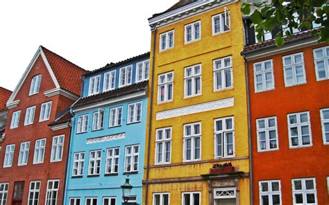 colorful buildings colorful buildings in copenhagen wallpaper world