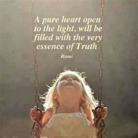love to swing a pure heart open to the light will be filled with the