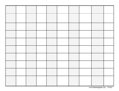 free printable blank hundreds chart to 120 blank number grid bing images