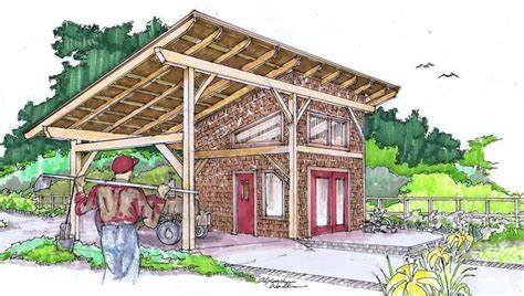timber frame shed barn woodworking projects plans
